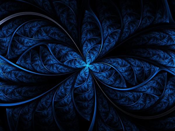 Красивый синий узор